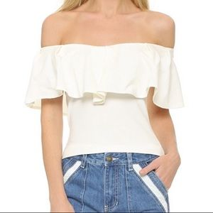 3/$20 Free People Off the Shoulder Ruffle Top